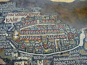 Jerusalem map in Madaba