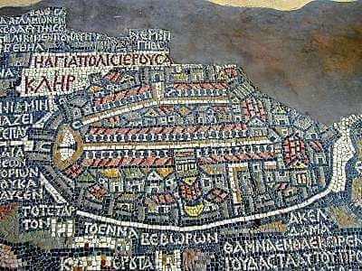 Jerusalem map in Madaba