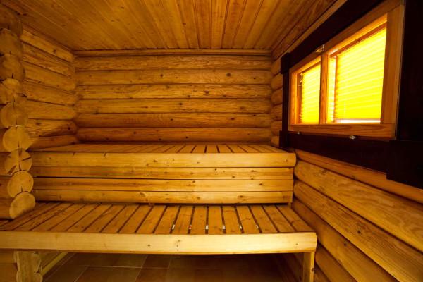 Finnish chalet sauna