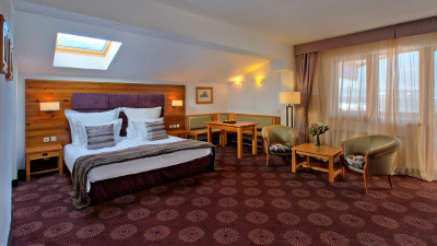 Kempinski Grand Arena Hotel Bansko Junior Suite Bedoom Mountain View