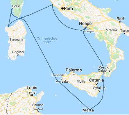 Malta Fly & Cruise Itinerary