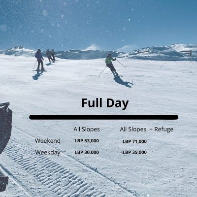 Mzaar Ski Resort Lift prices