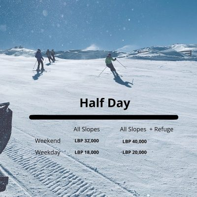 Half day Mzaar lift prices